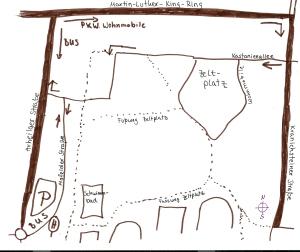 Skizze für die Anfahrt